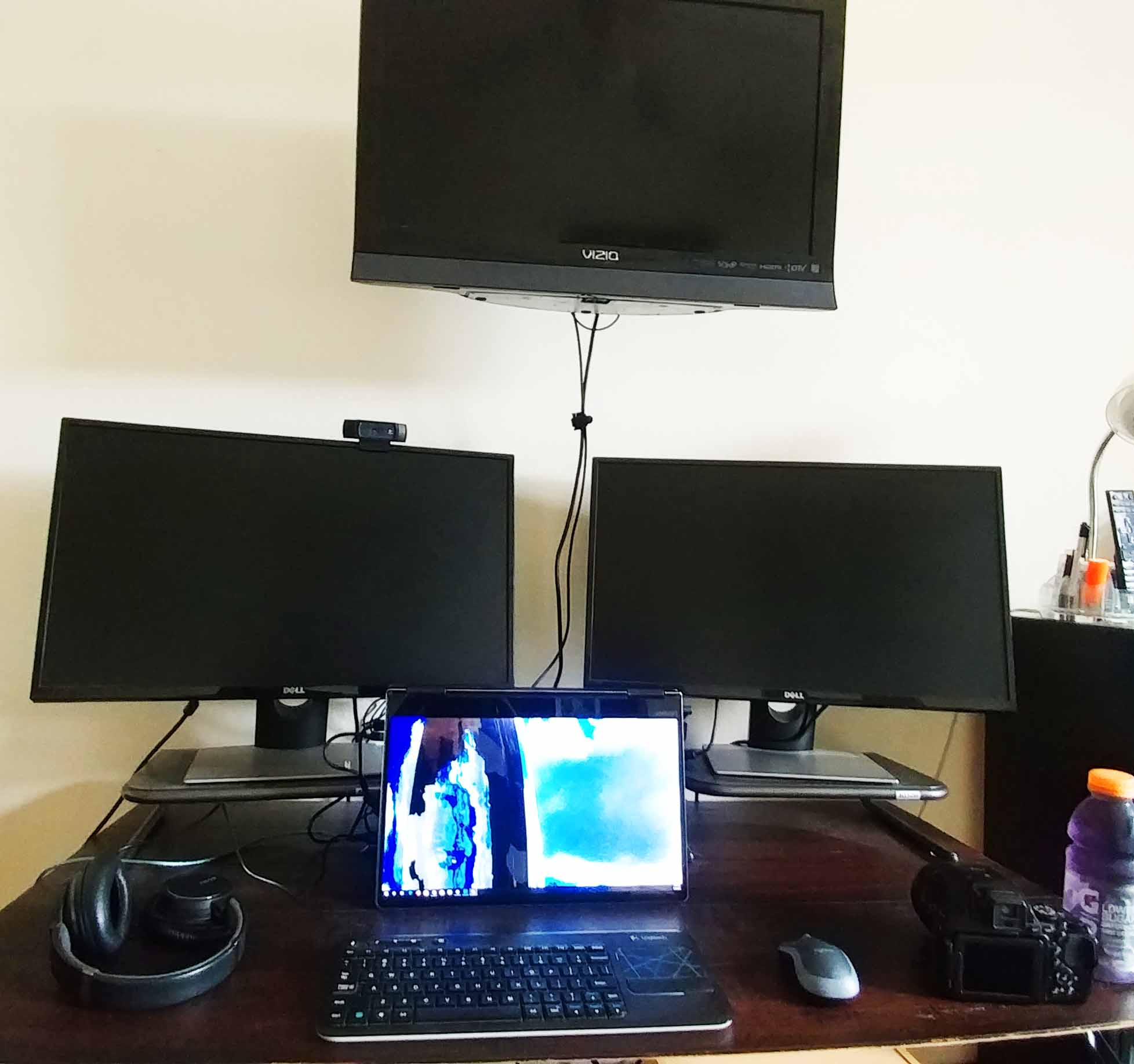 How To Make An In Expensive Dark Wood Bamboo Multi Monitor Computer